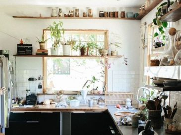 cuisine deco kinfolk boheme plantes vertes tendance
