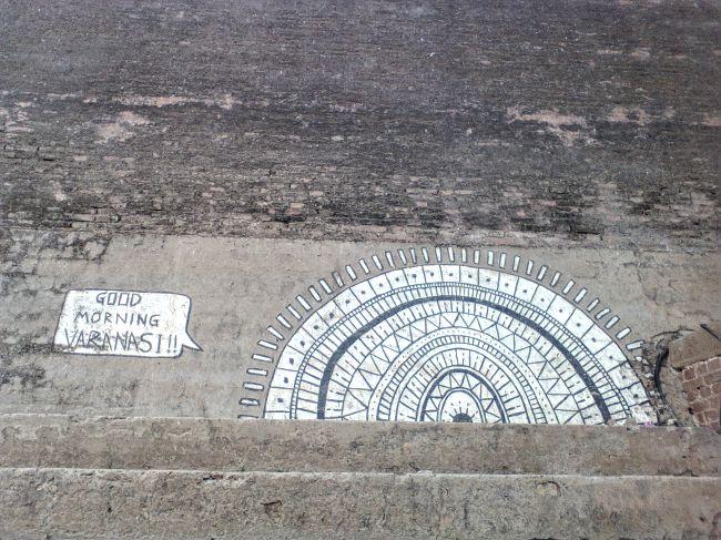 decouvrir le streetart varanasi inde du nord ghats
