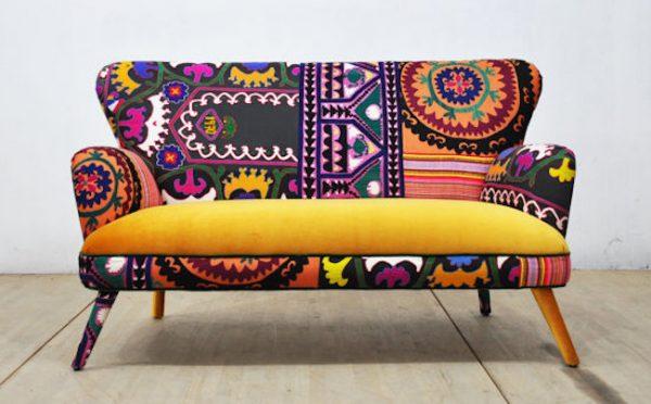 inspiration deco canape colore et motif salon