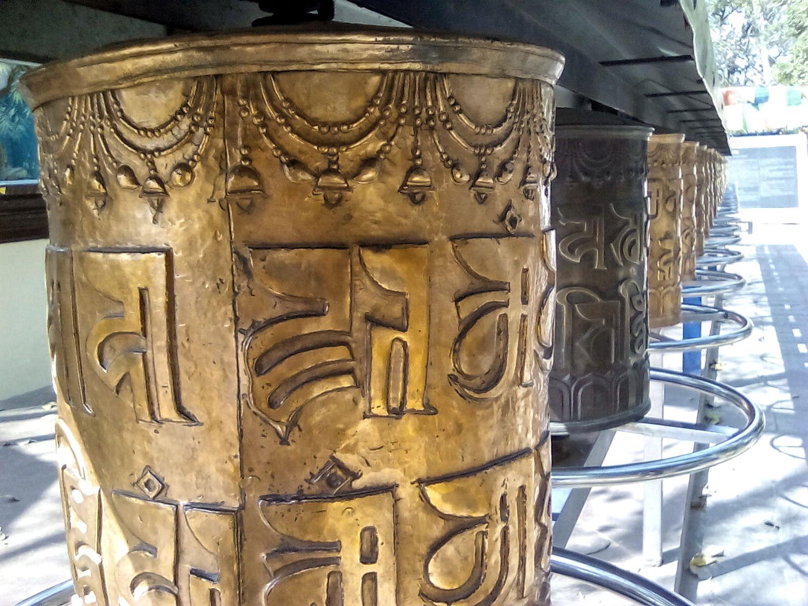 moulins a priere bouddhisme sarnath inde vie nomade