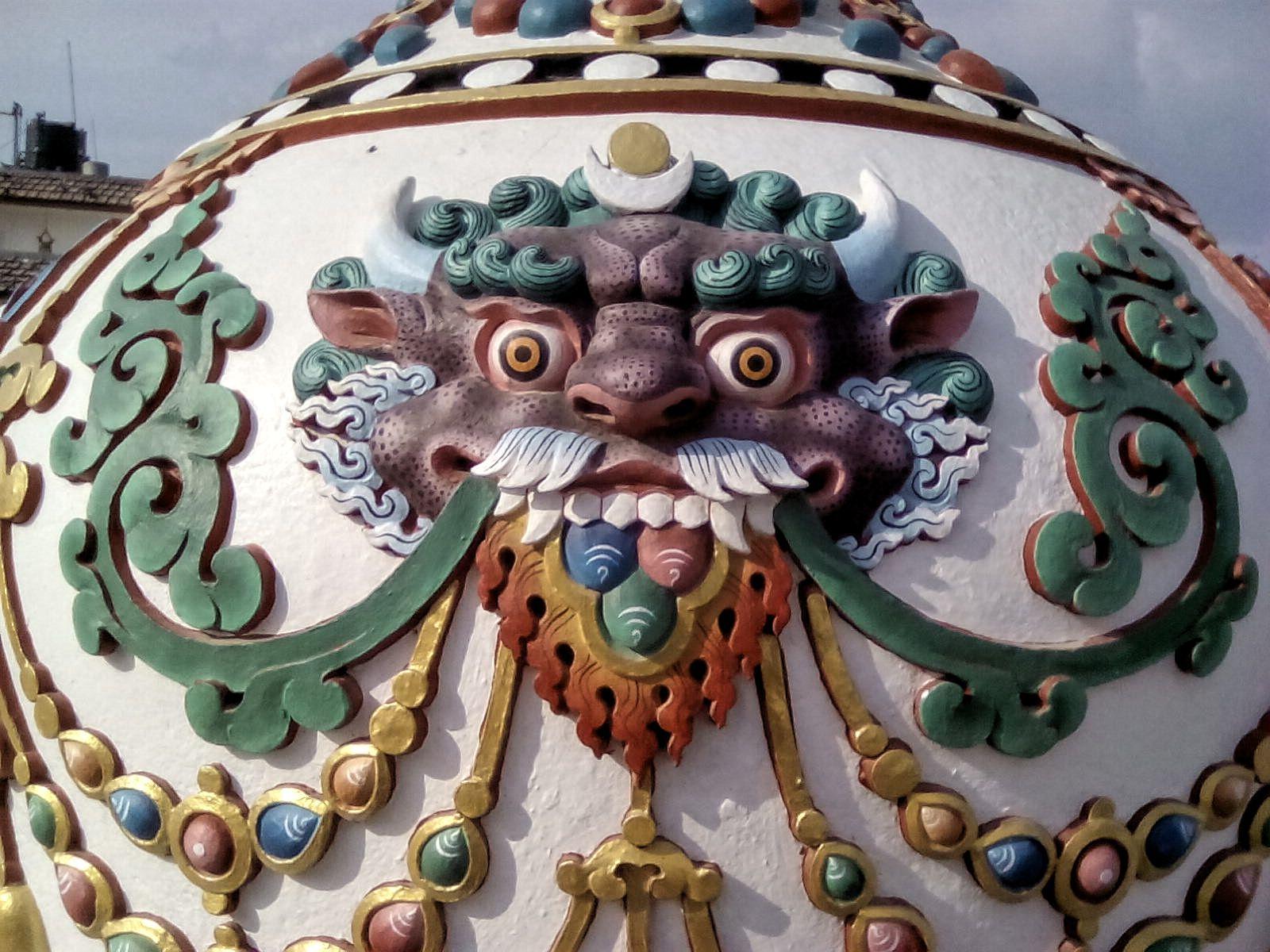 bodnath stupa detail katmandou decouverte voyage vie nomade