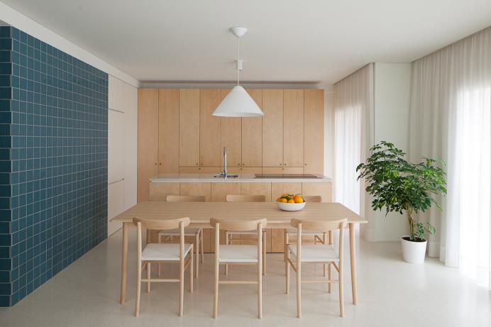 decoration bois cuisine tendance minimaliste