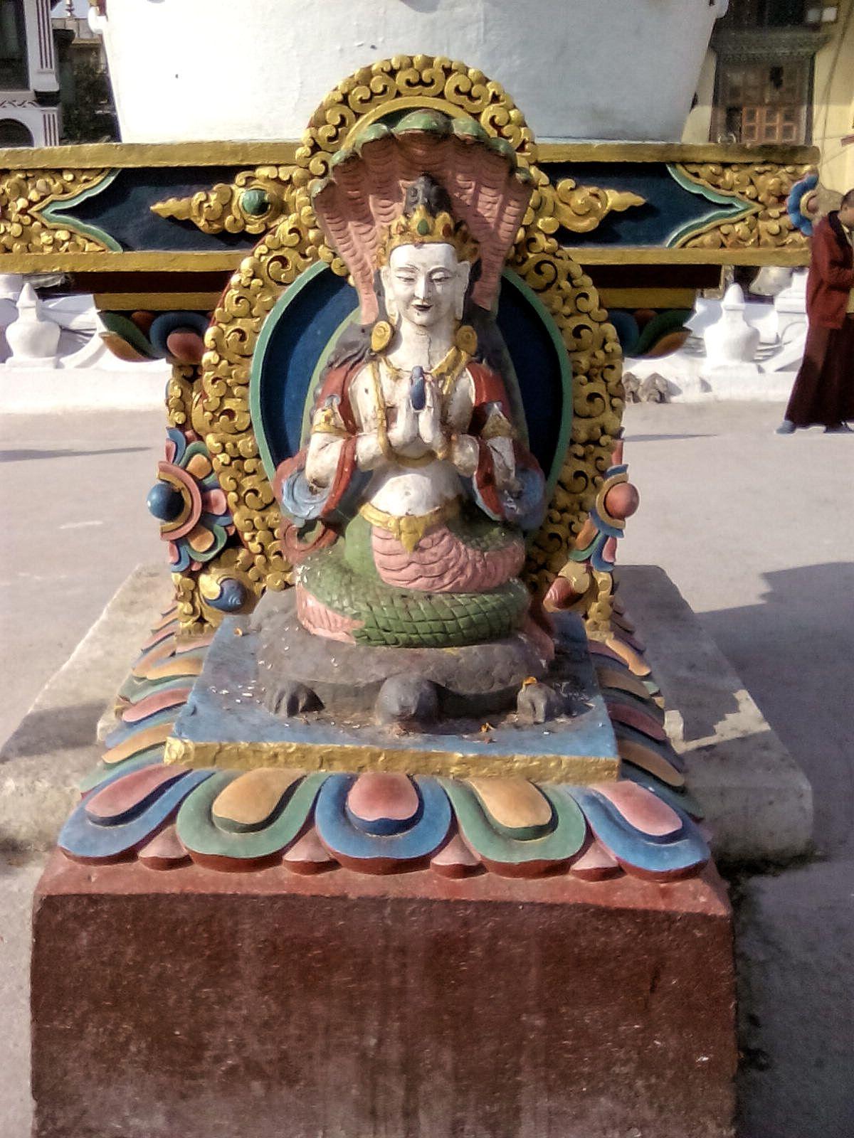 detail bodnath stupa katmandou