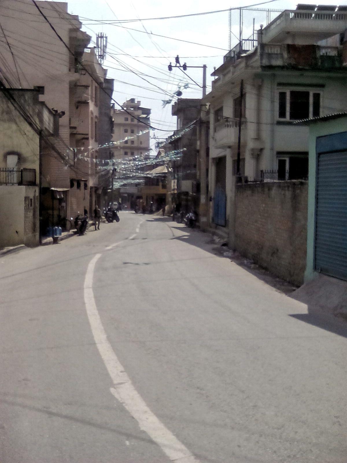 katmandou nepal petite rue