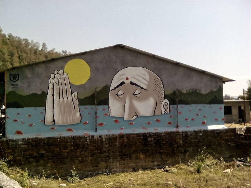 street art nepal pokhrara