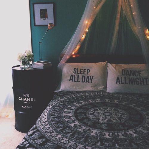 deco tenture inspiration boheme chambre parure de lit