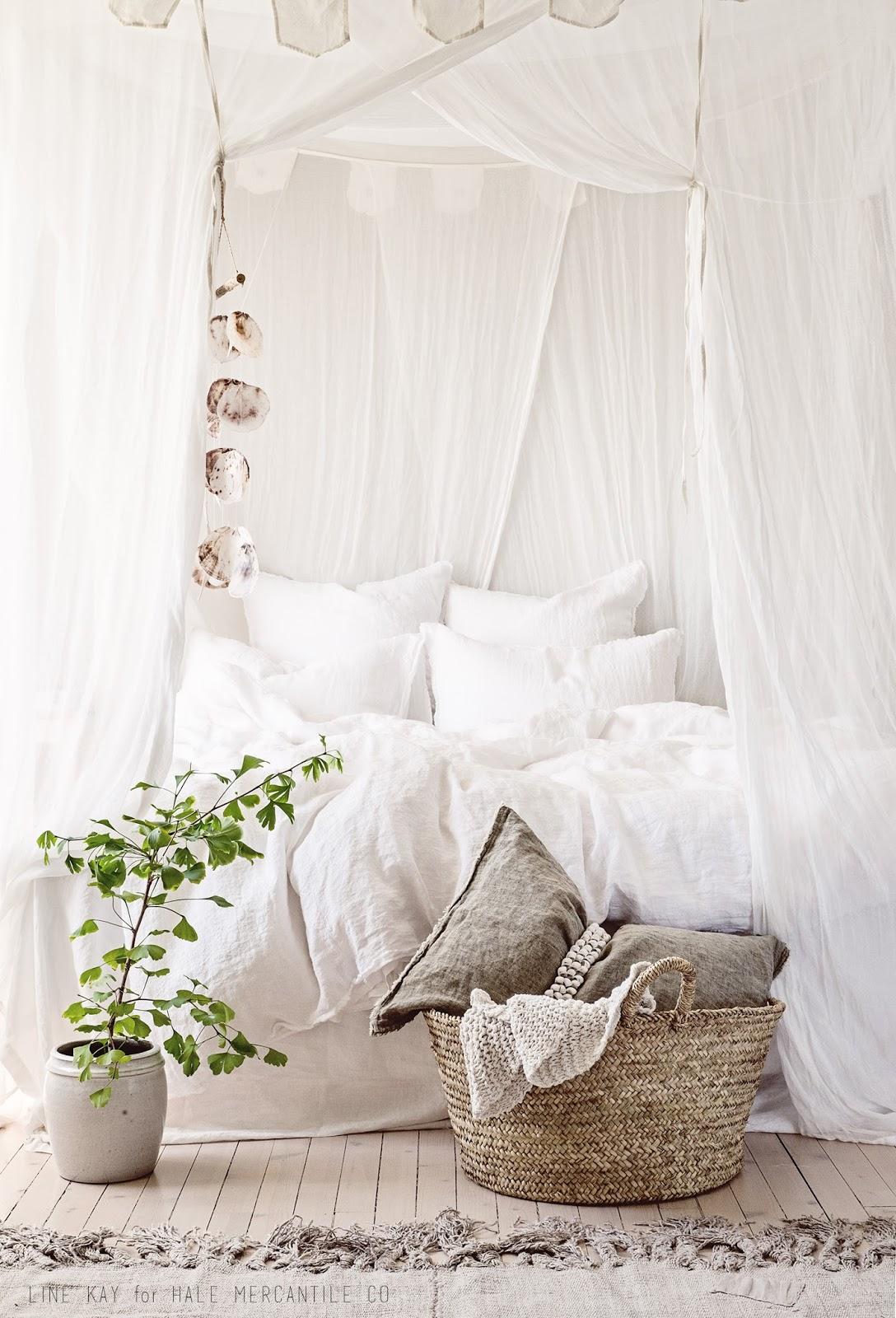 decoration chambre repos blanc tendance