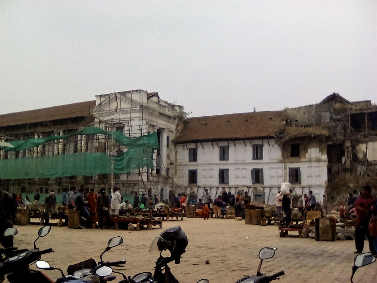 durbar square katmandou apres tremblement de terre