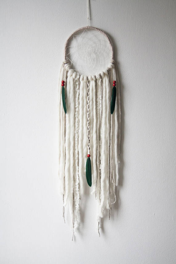 attrape reve deco boheme blanc laine