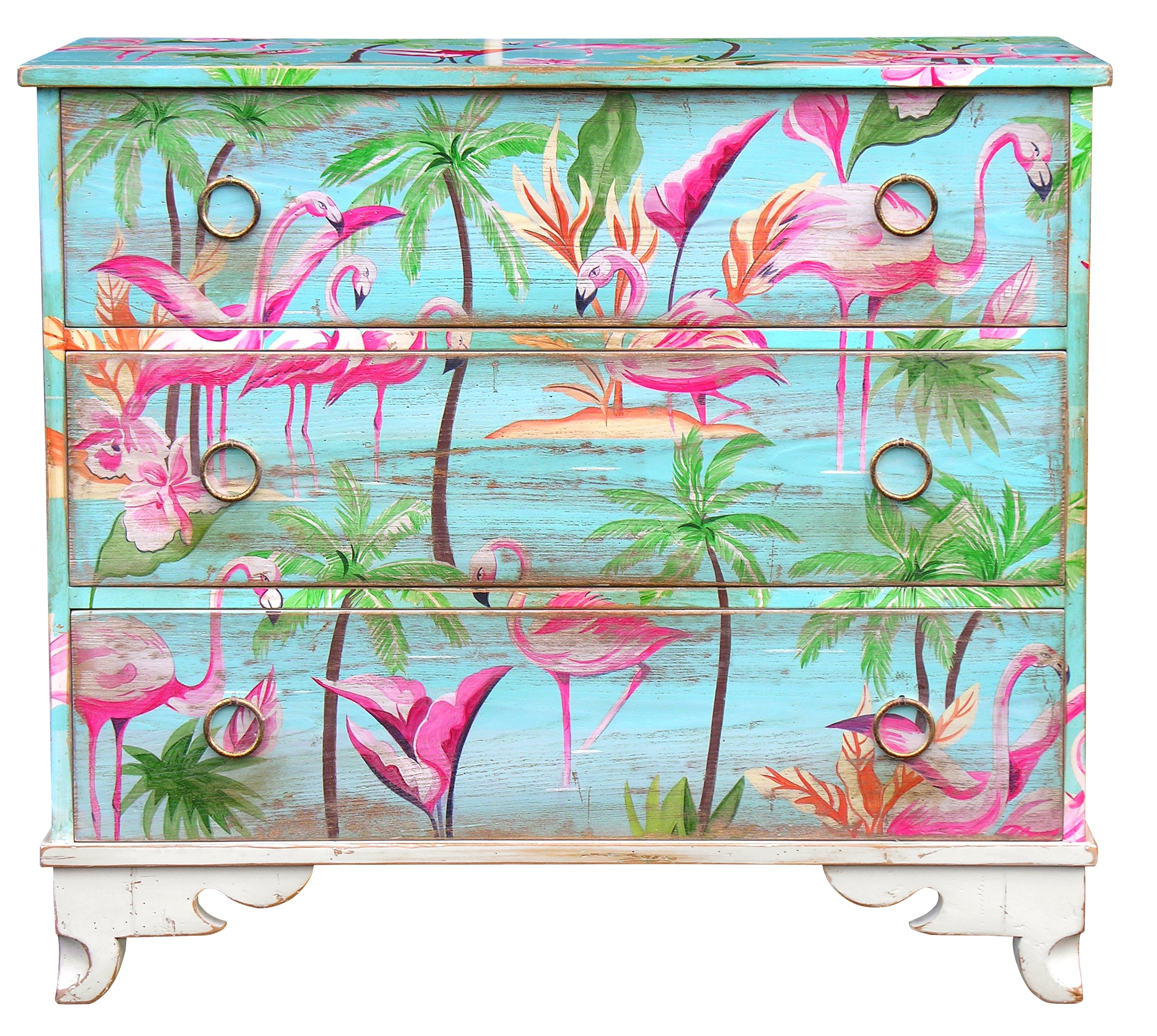 commode flamand rose deco