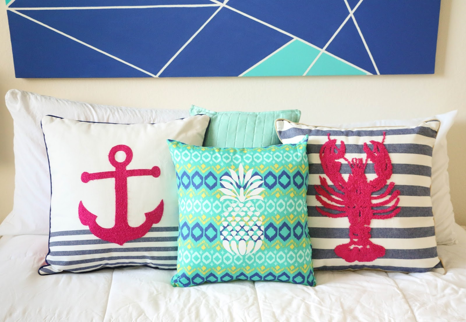 deco coussin ete plage mer ananas