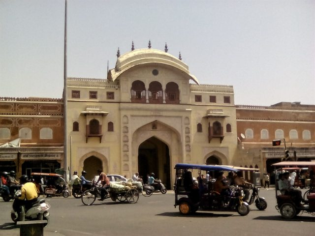 jaipur city palace circulation inde du nord