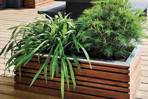 jardiniere bois decoration jardin