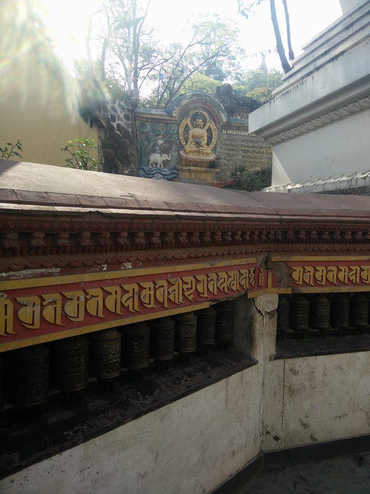 vie nomade nepal katmandou detail bouddhisme