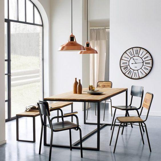 deco metal mobilier bois tendance contraste