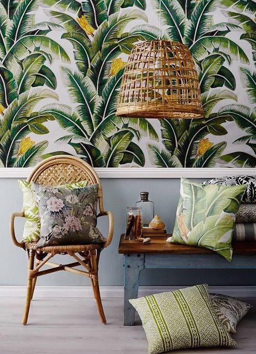 deco papier peint jungle tendance