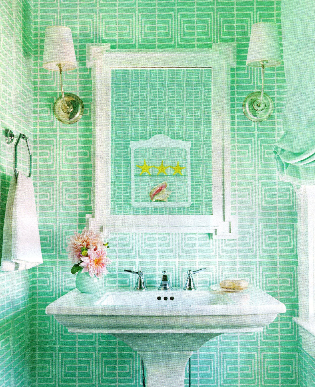 decoration vert salle de bain idee