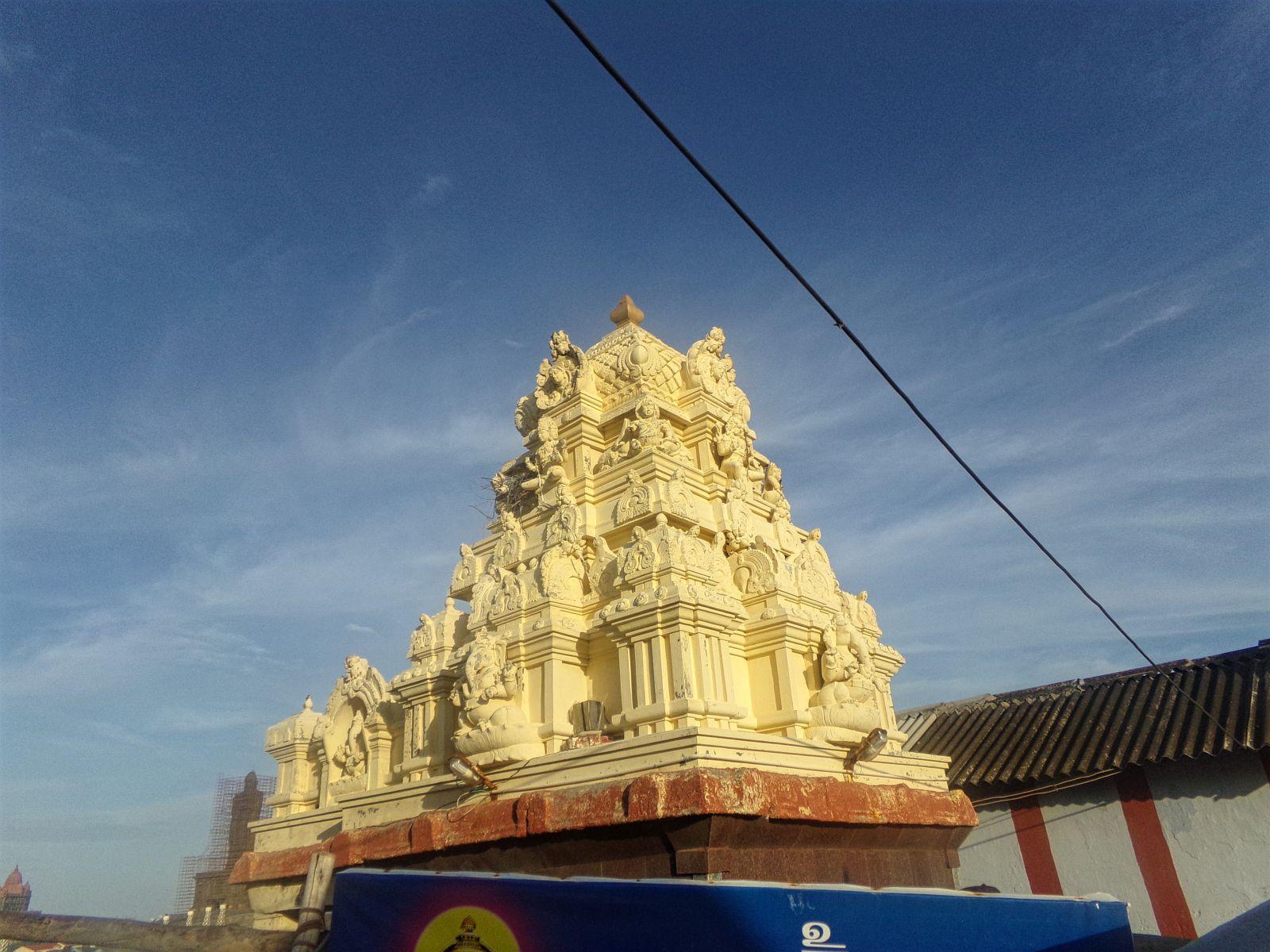 detail temple hindou kanyakumari inde