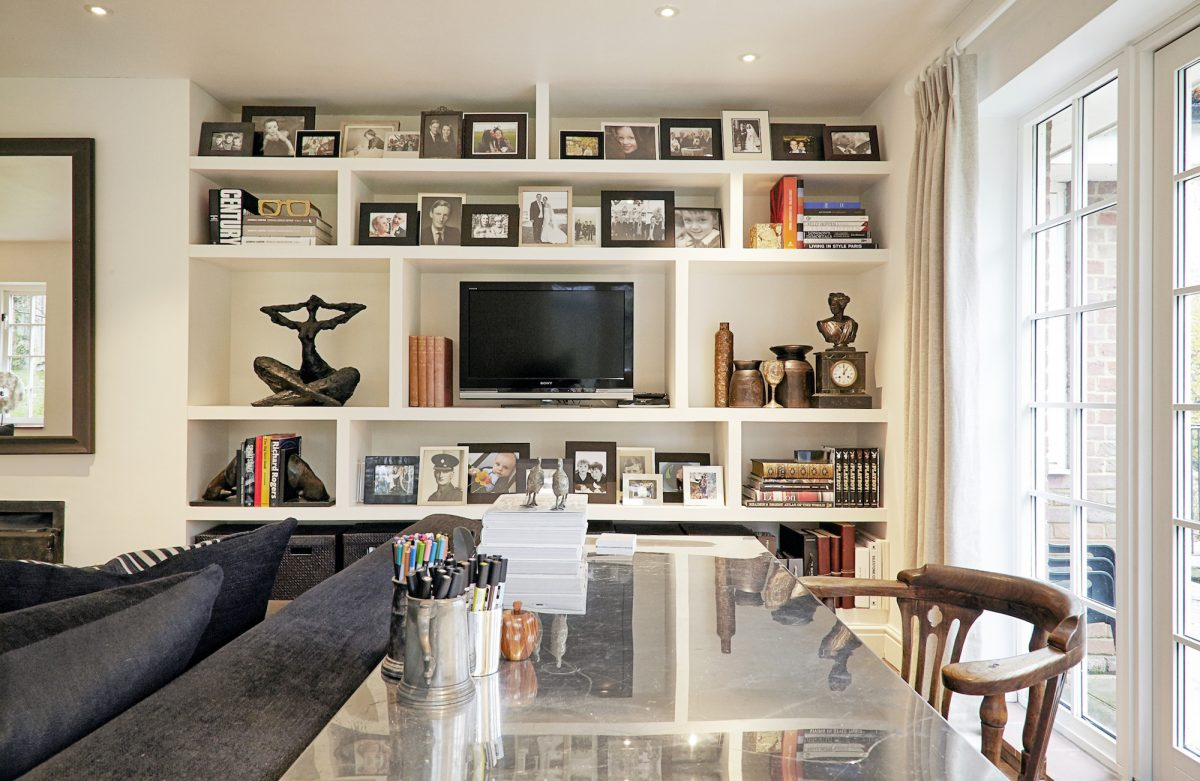 amenagement bibliotheque television salon inspiration deco