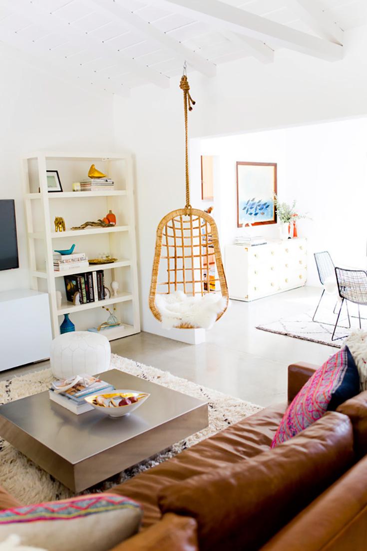 meubles en rotin pour un salon naturel et contemporain cocon d co vie nomade. Black Bedroom Furniture Sets. Home Design Ideas
