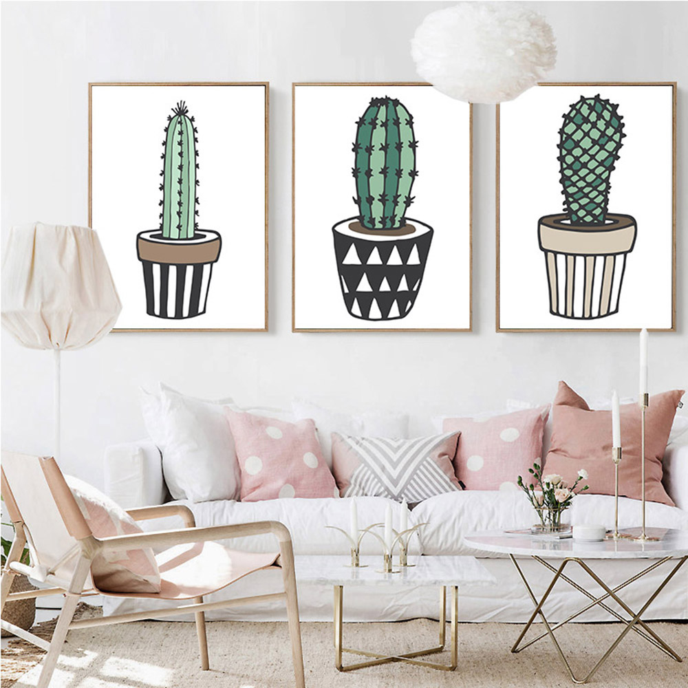 deco cactus inspiration cadre