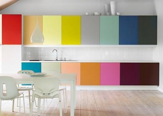deco cuisine blanc et couleur design