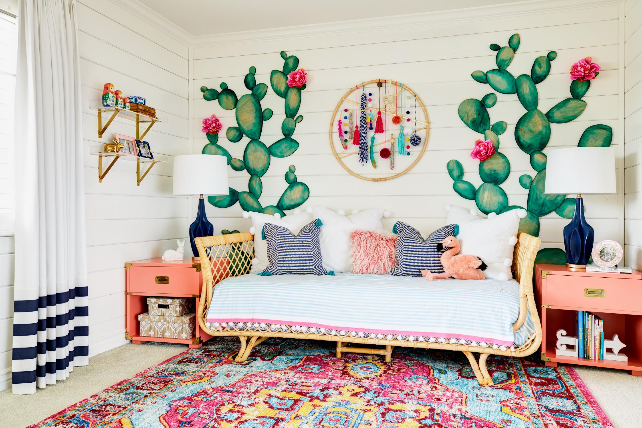 deco murale tendance boheme cactus salon