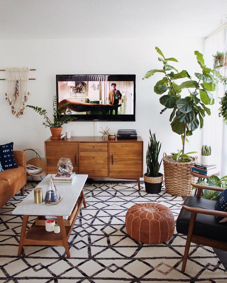 Living Room Ideas Designs And Inspiration: Une Jolie Déco Autour De La Télévision