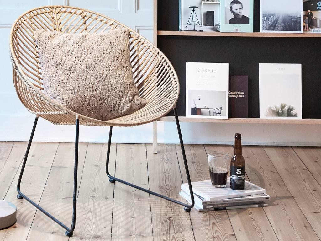 decoration mobilier fauteuil rotin contemporain
