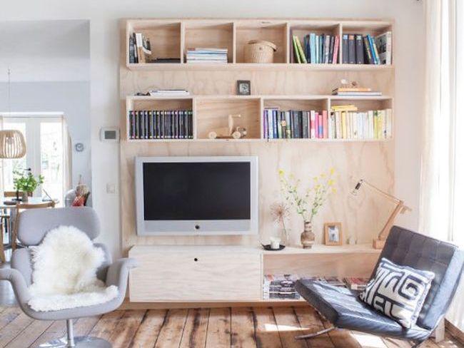 une jolie d co autour de la t l vision cocon d co vie nomade. Black Bedroom Furniture Sets. Home Design Ideas