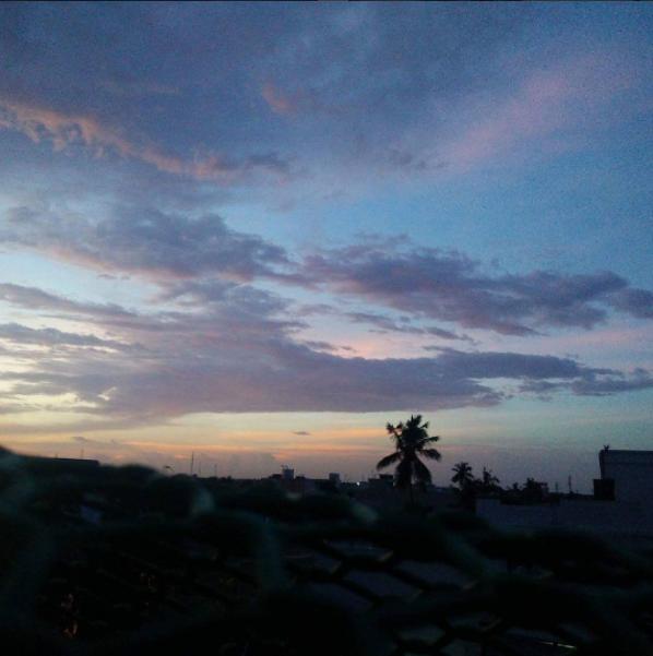 pondicherry inde coucher de soleil