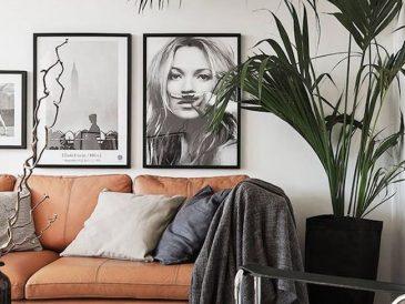 contraste decoration interieur blanc et cuir