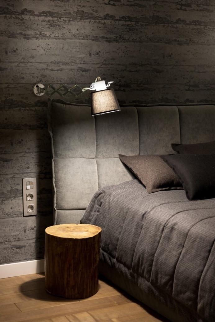 deco chambre tete de lit capitonnee