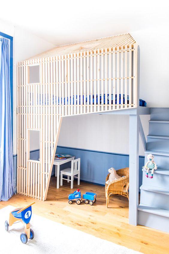 deco enfant chambre lit mezzanine