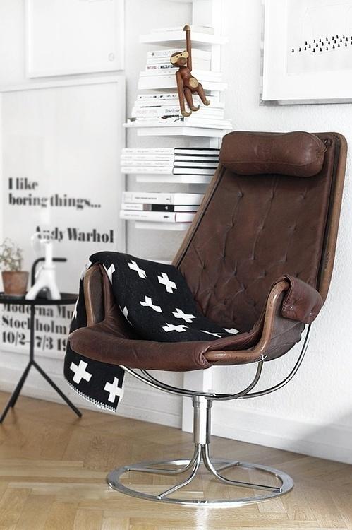 decoration blanche fauteuil cuir design