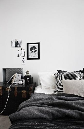 decoration chambre sobre et tendance