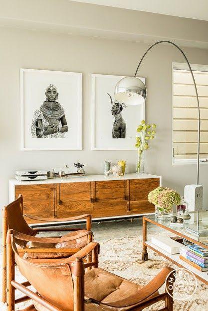 decoration claire et mobilier en cuir salon