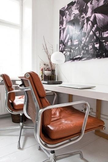 fauteuil bureau cuir deco blanche