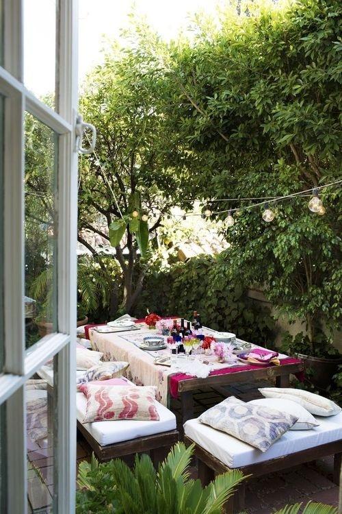 jardin deco espace repas