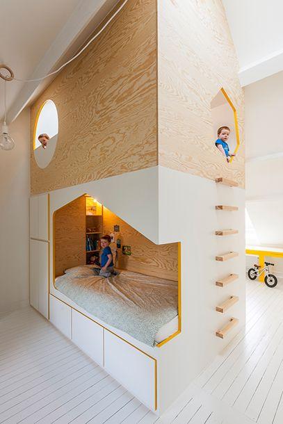 lit enfant design bois
