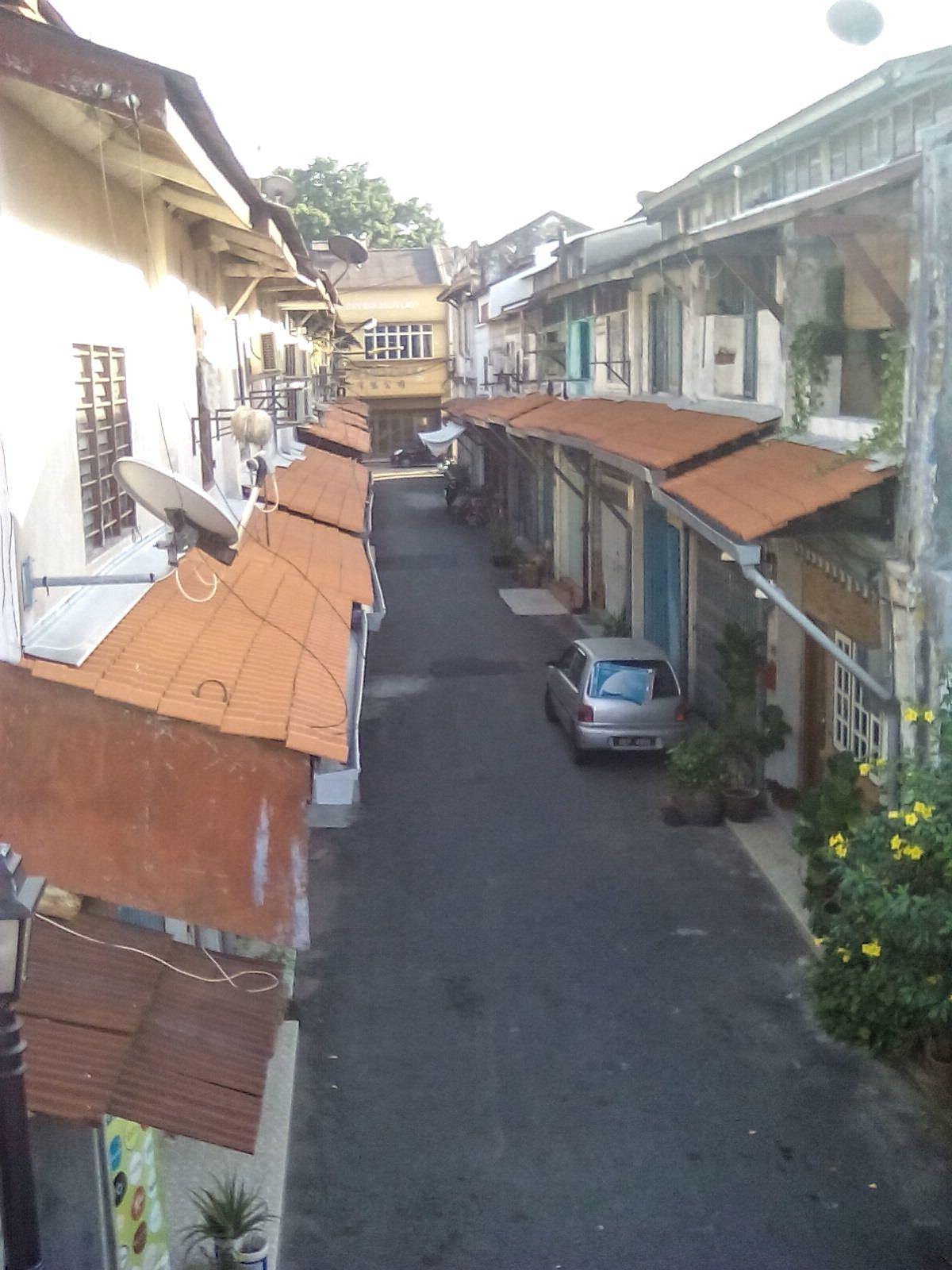 petite rue quartier historique melaka malaisie
