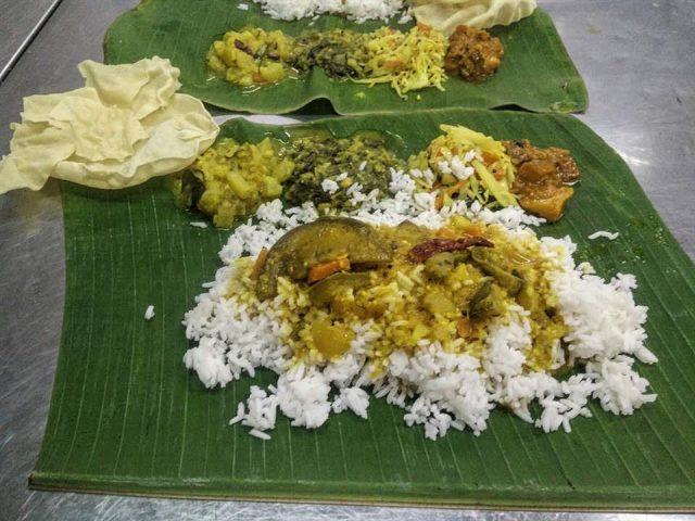 banana leaf nourriture indienne malaisie