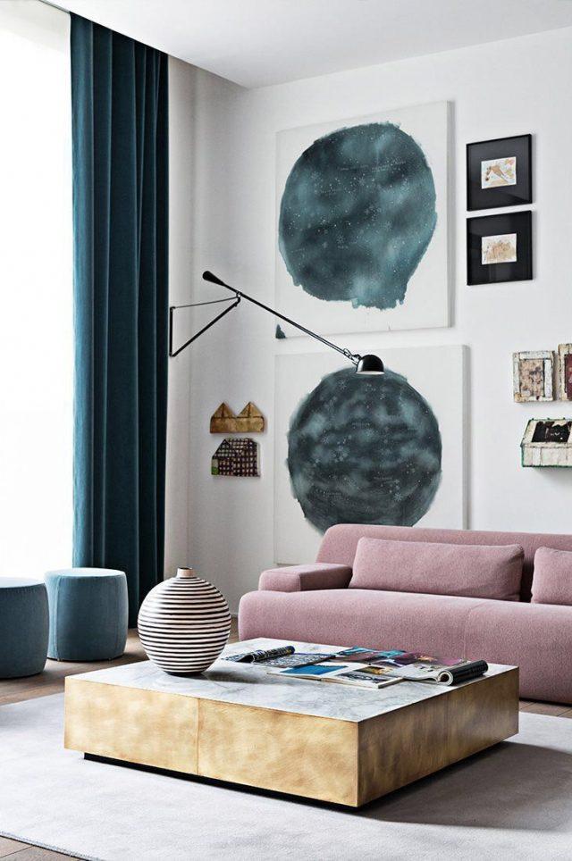 deco salon luminaire lampadaire canape