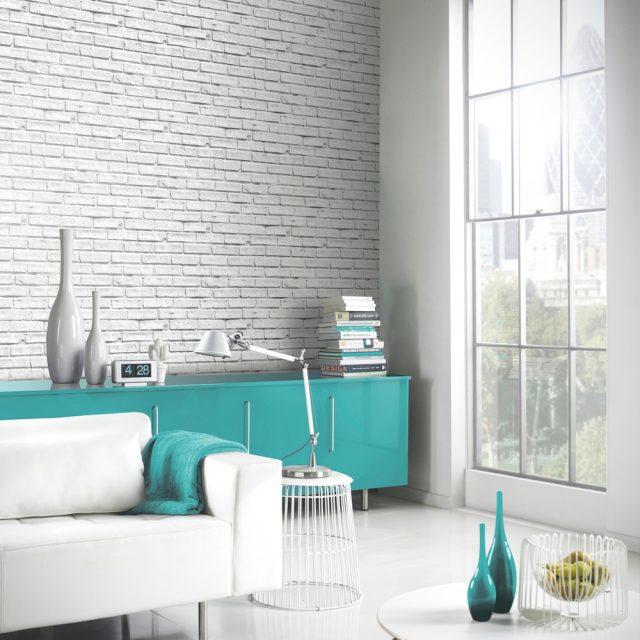 deco salon mobilier enfilade bleue