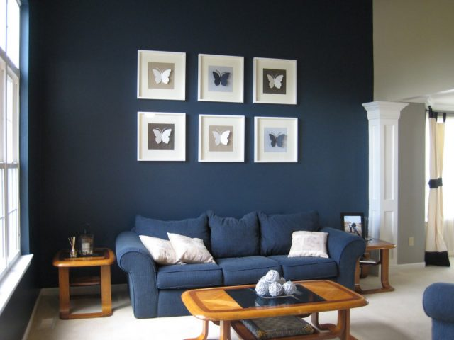 du bleu dans le salon cocon de d coration le blog. Black Bedroom Furniture Sets. Home Design Ideas