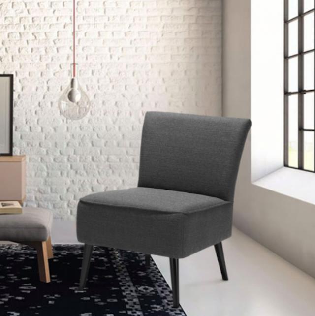 fauteuil gris salon deco contemporain