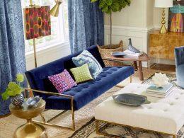 inspiration deco bleu salon idee decoration