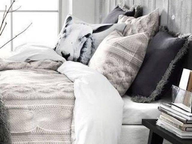 inspiration deco chambre hiver laine nordique cocon