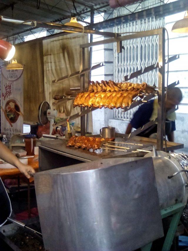 malaisie street food poulet