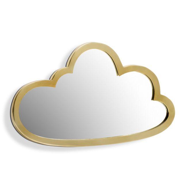 miroir nuage decoration tendance or
